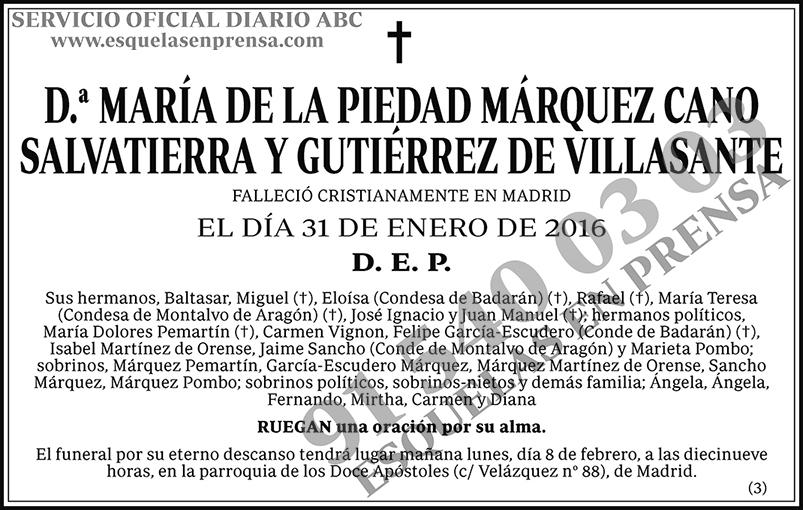 María de la Piedad Márquez Cano Salvatierra y Gutiérrez de Villasante
